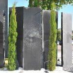 palissade pierre naturelle grise et noire desert black grey kei stone aix en provence pertuis lyon auxerre hossegor sarlat tours