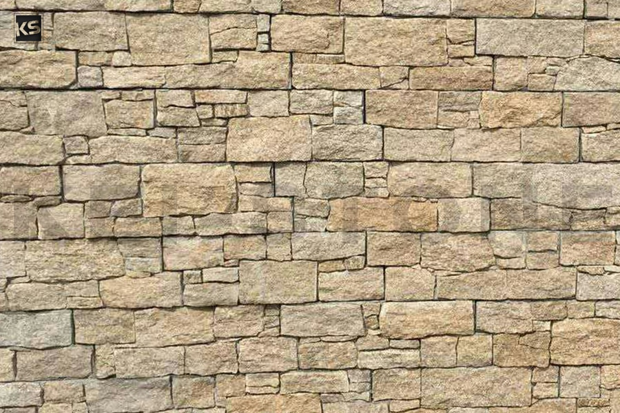 Mur de parement en pierres naturelles beiges wallstone - Mur en pierre de parement exterieur ...