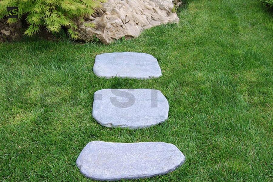 pas japonais aspect galet en pierre naturelle grise kavalas. Black Bedroom Furniture Sets. Home Design Ideas
