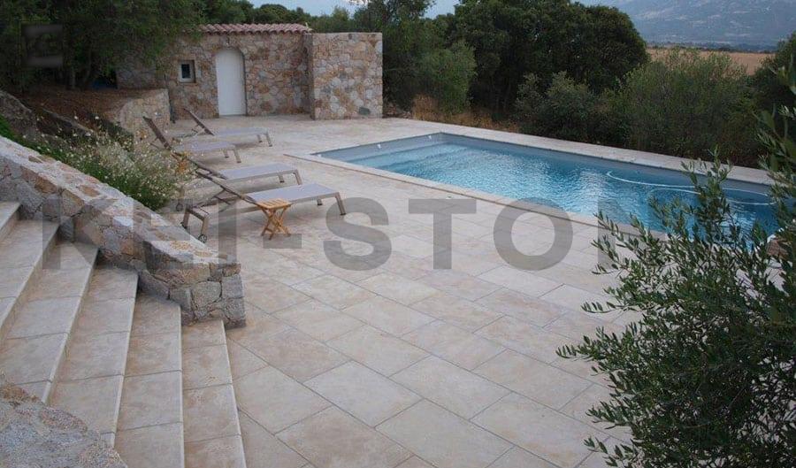 dallage piscine pierre naturelle montfort beige kei stone aix en provence pertuis lyon auxerre hossegor sarlat tours