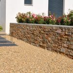 terrasse moderne en pierre naturelle gris d 39 asie finition ponc e. Black Bedroom Furniture Sets. Home Design Ideas