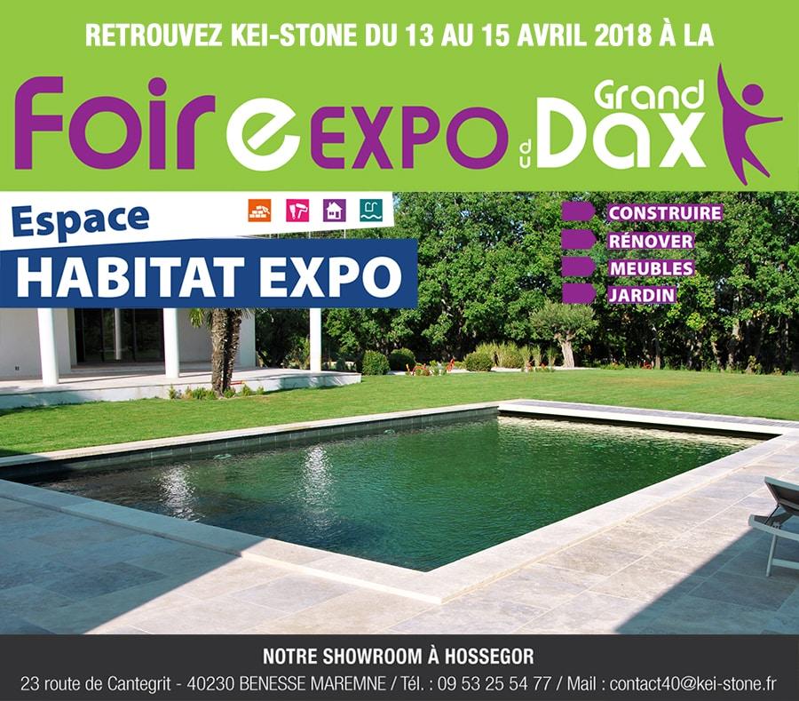 Kei-Stone Hossegor sera présent à la Foire du Grand Dax du 13 au 15 Avril 2018