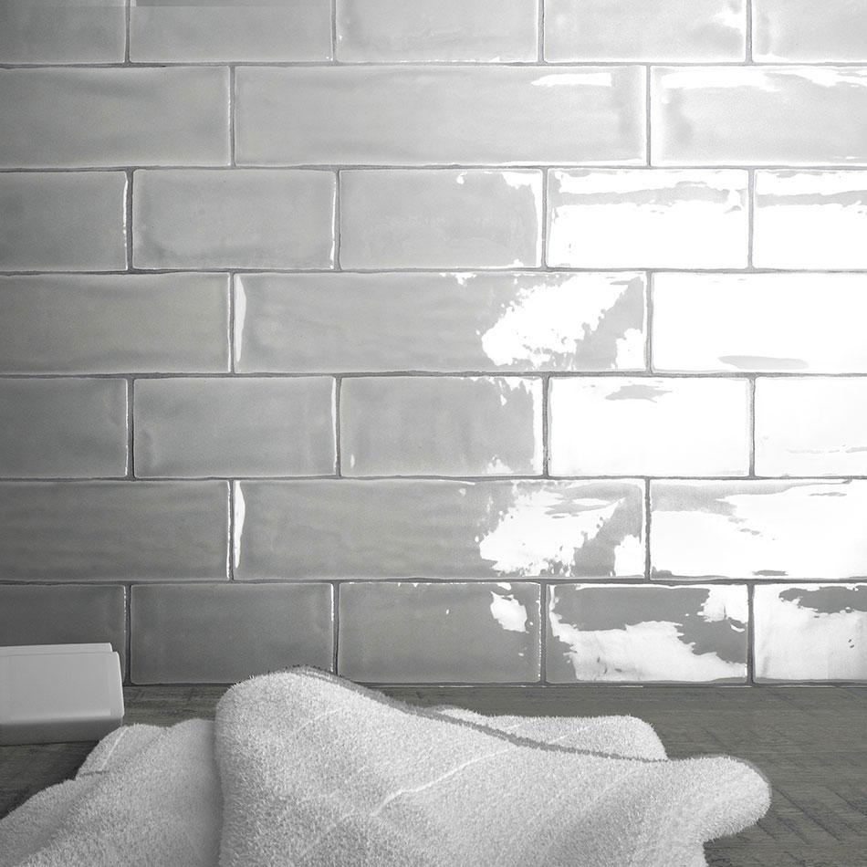 Carreaux de faïence d'inspiration vintage blanc