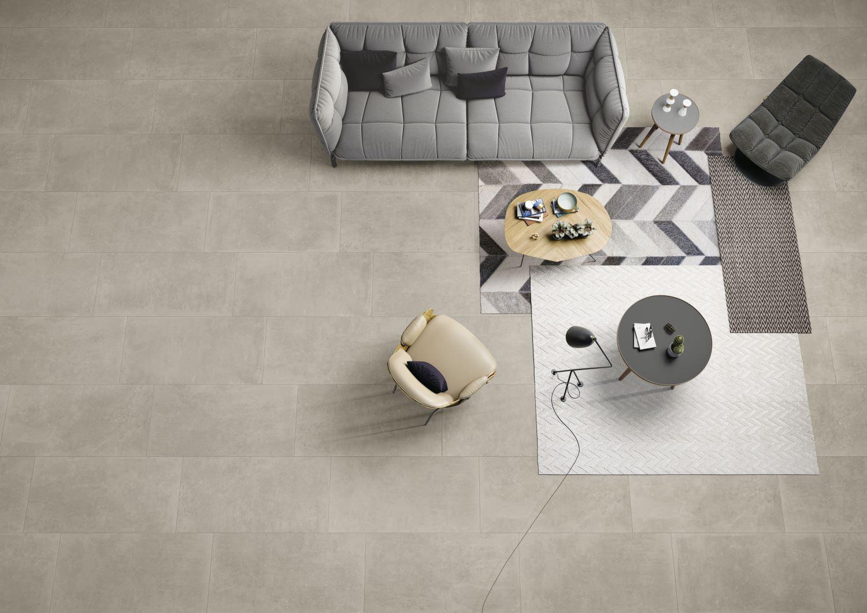 Carrelage effet béton ciré de couleurs gris