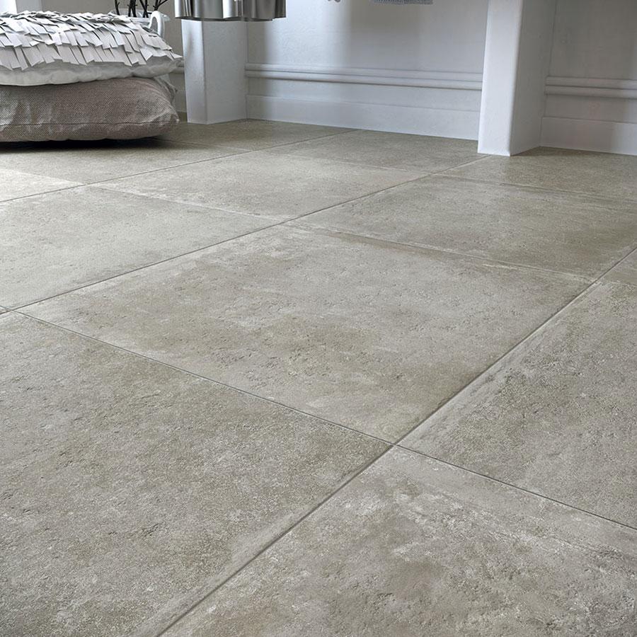 Carrelage effet pierre naturelle gris