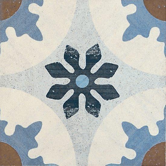 Carrelage inspiration carreaux de ciment touche post industriel avec des nuances naturelles aux textures d'argile