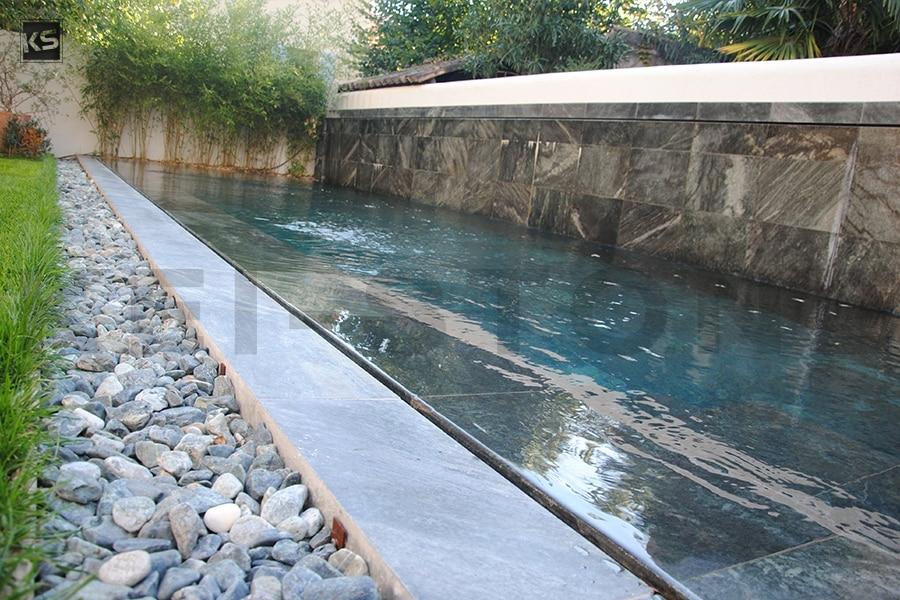 Intrieur De Piscine En Quartzite Aux Reflets DEaux Bali Green
