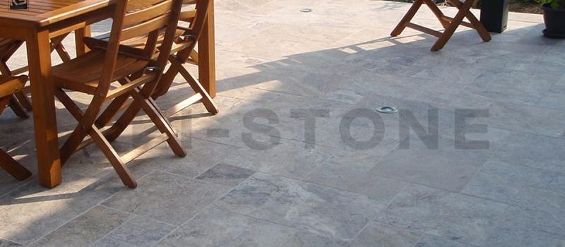 dallage terrasse opus romain travertin cendre pierre naturelle kei stone aix en provence pertuis lyon auxerre hossegor sarlat tours