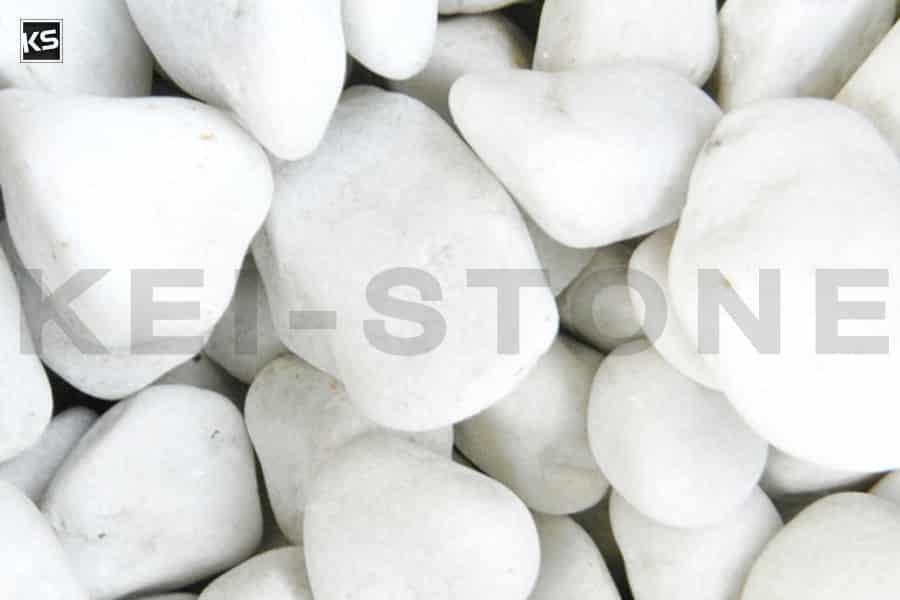Galet Blanc pur, galets pour jardins ou allées de maison