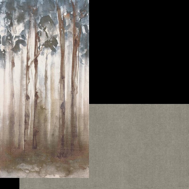 carrelage effet wallpaper imitation papier peint xxl motifs foret dream Fondovalle grés cérame salle de bain chambre nuancier uni panneaux