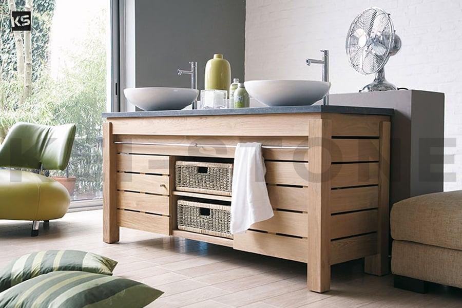 Meubles de Salle de bain Line Art en bois exotique