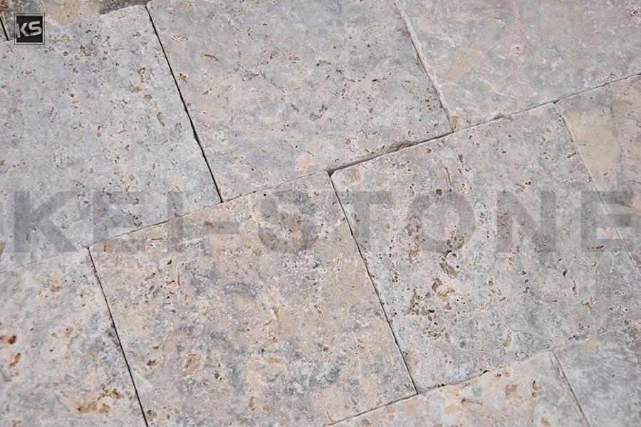 pavés travertin cendre pierre naturelle grise kei stone aix en provence pertuis lyon auxerre hossegor sarlat tours