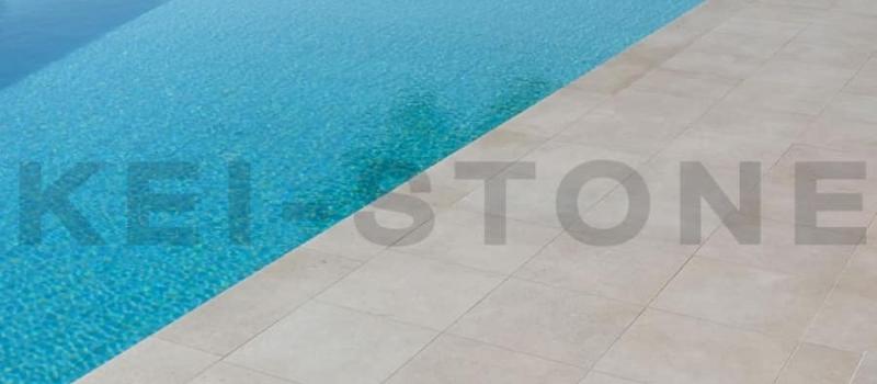 dallage et margelle saint come piscine terrasse pierre naturelle beige kei stone aix en provence pertuis lyon auxerre hossegor sarlat tours