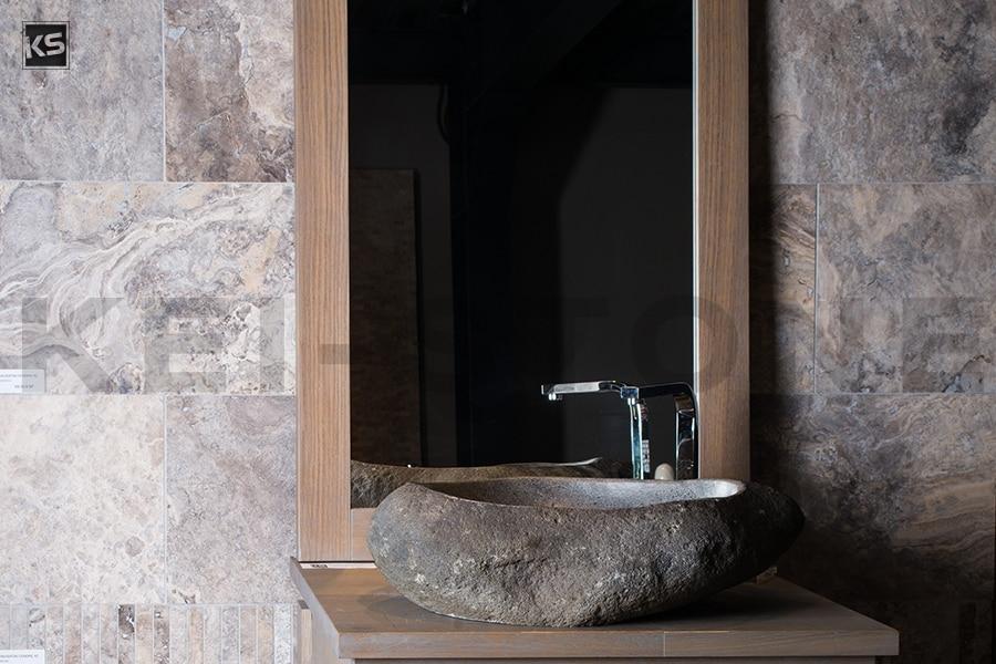 Travertin Cendré pierre naturelle grise pour dallage et sol