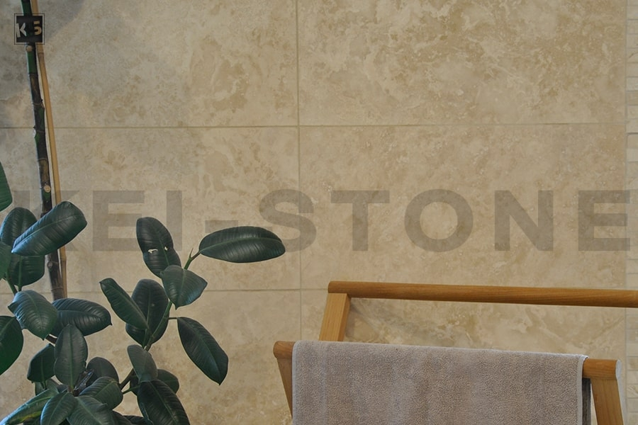 dalle travertin cr me pour dallage et sol kei stone. Black Bedroom Furniture Sets. Home Design Ideas